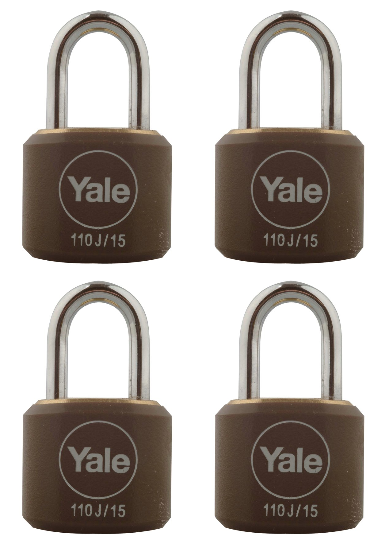 15mm Luggage Padlocks Quad