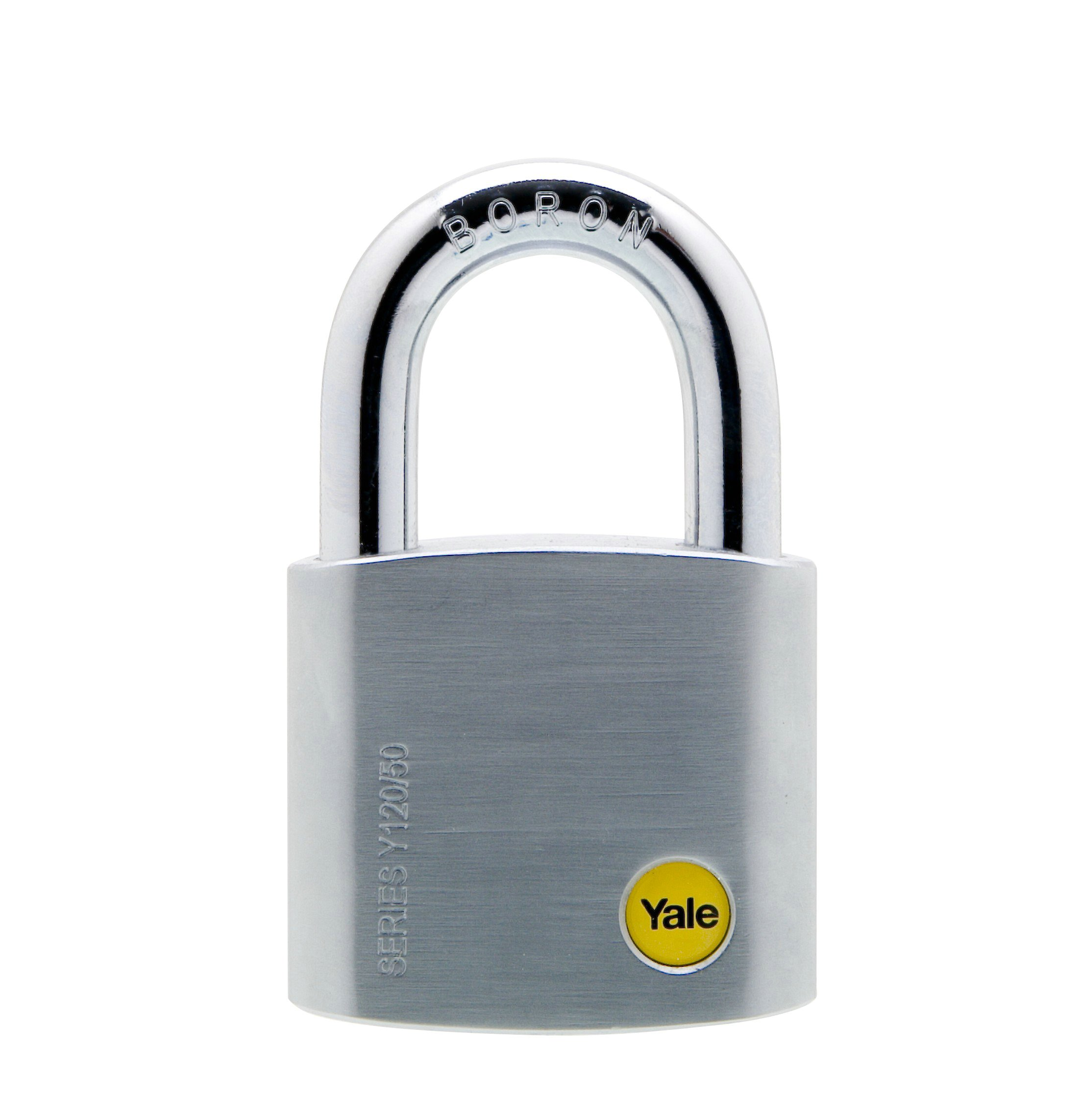 50mm Brass Satin Chrome Padlock