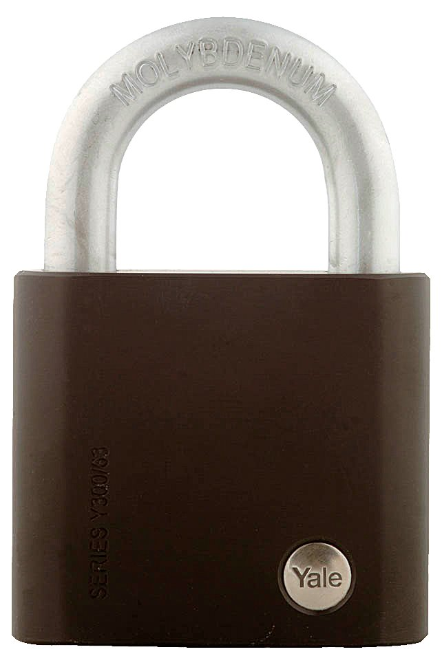 Y300/63/127 - Yale Black Series Hardened Steel Padlock (Molybdenum Shackle) 63mm
