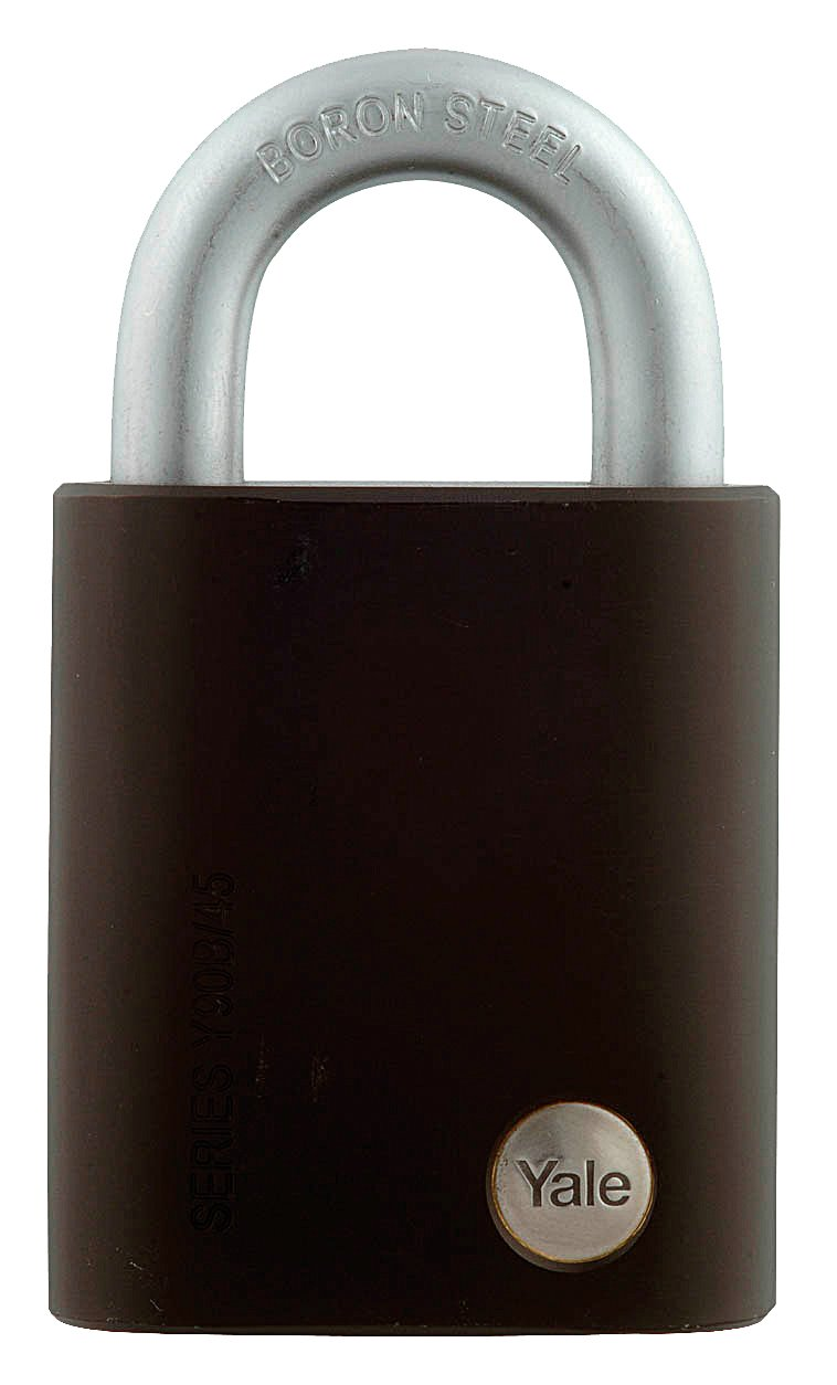 Y90B/45/129 - Yale Silver Series Outdoor Solid Brass Padlock (Boron Shackle)
