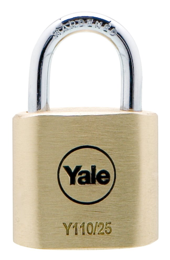 Y110/25/115 - Yale Classic Series Outdoor Solid Brass Padlock 25mm with Multi-pack