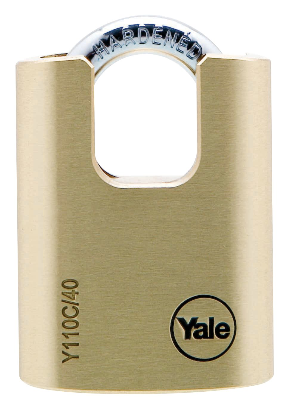 Y110C/40/119 - Yale Classic Series Outdoor Solid Brass Closed Shackle Padlock 40mm