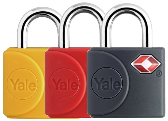 YTP4/25/111/2 - Yale Colored Keyed Luggage TSA Lock Dual Pack (Red/Grey/Yellow)