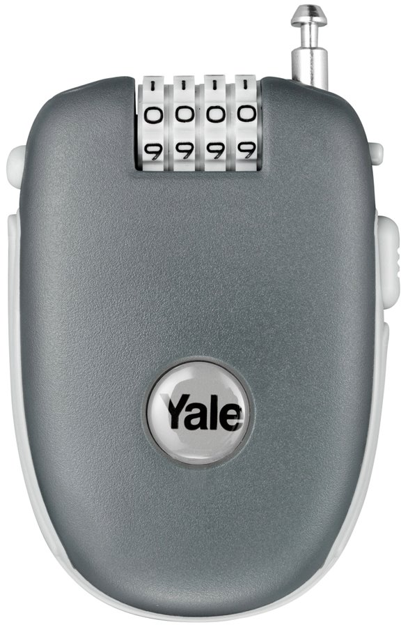 YR1/64/3450 - Yale Retractable Cable Luggage 4-digit Cominbation Lock