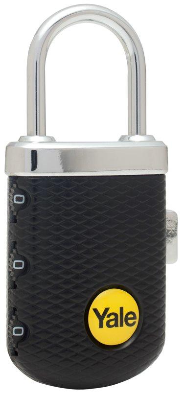 YP3/31/123/1 - Yale Gem Luggage 3 digit Combination Lock (Red/Black)