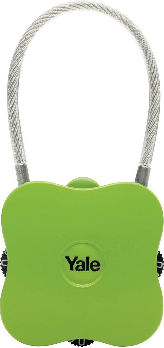 YP4/41/350/1 - Yale Novelty Lock Range Groove Luggage 3 Digit Combination Lock (Purple/Green)