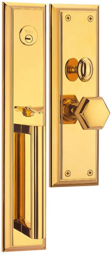M8733 AA - Yale M8700 series Classic Style Entrance Door Handle Set 1