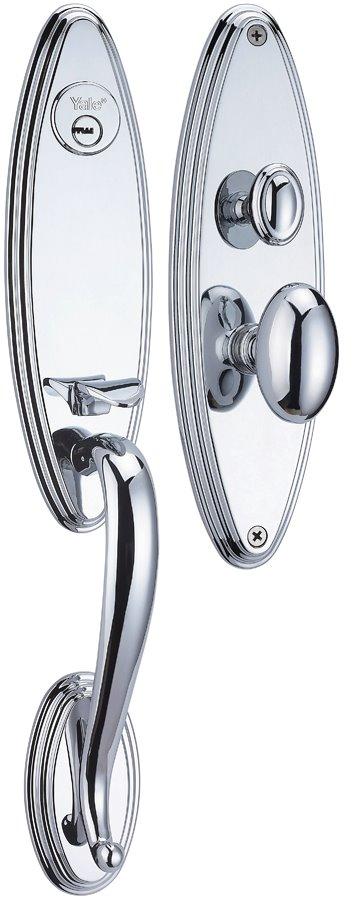 M8733 BB - Yale M8700 series Classic Style Entrance Door Handle Set 2