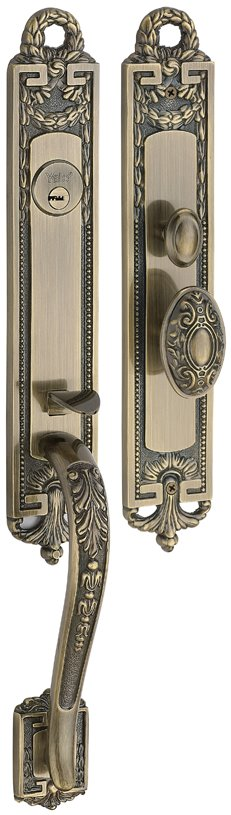 M8773 H2 - Yale M8700 series Classic Style Entrance Door Handle Set 6