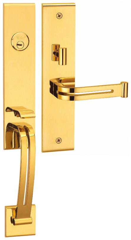M8773 E5 - Yale M8700 series Elegance Style Entrance Door Handle Set E5