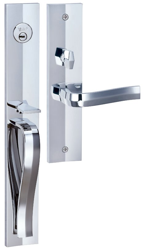 M8773 F1 - Yale M8700 series Elegance Style Entrance Door Handle Set F1