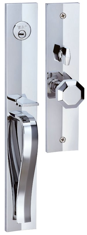 M8773 F2 - Yale M8700 series Elegance Style Entrance Door Handle Set F2