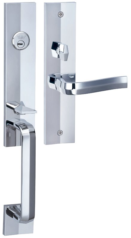 M8773 F7 - Yale M8700 series Elegance Style Entrance Door Handle Set F7