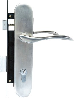 Yale Stainless Steel Door Lever Handle on Escutcheon (Handle N)