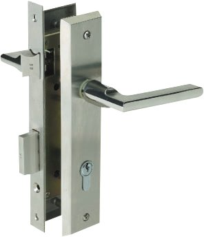 Yale Stainless Steel Door Lever Handle on Escutcheon (Handle X)