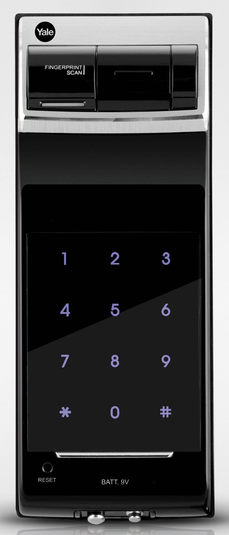 YDR4110 serratura ad applicare motorizzata biometrica