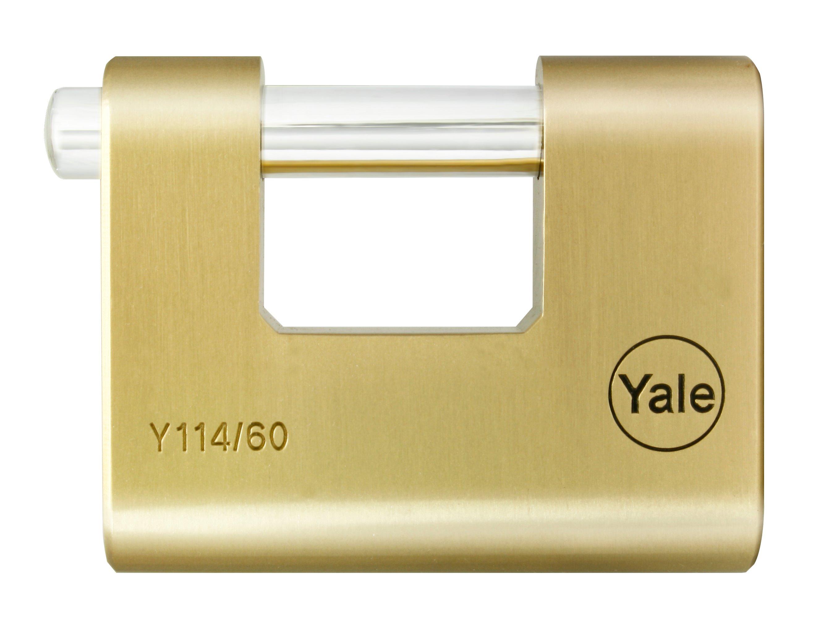 Y114 Brass Shutter Padlock
