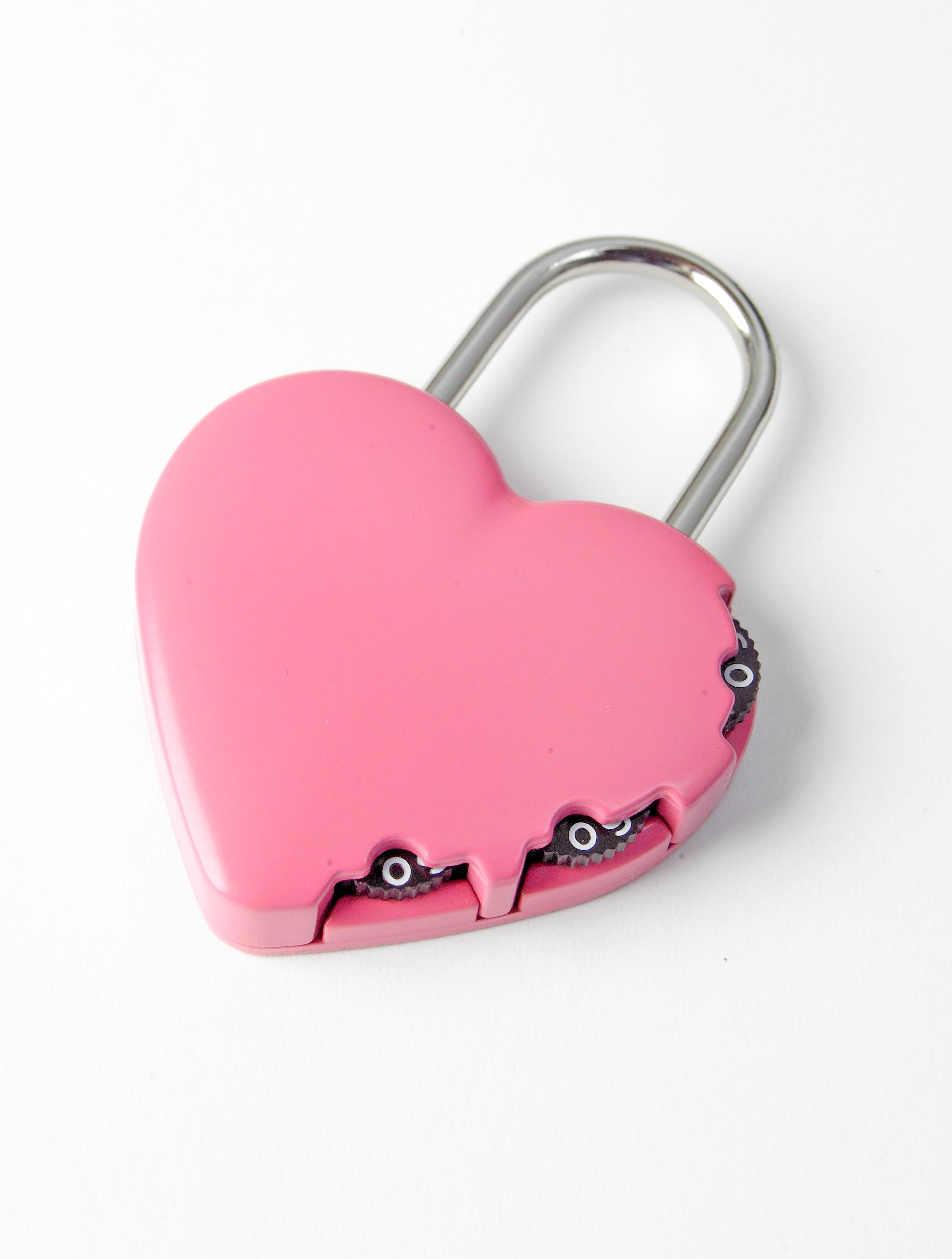 Y-Heart-Pnk - Combination Padlock