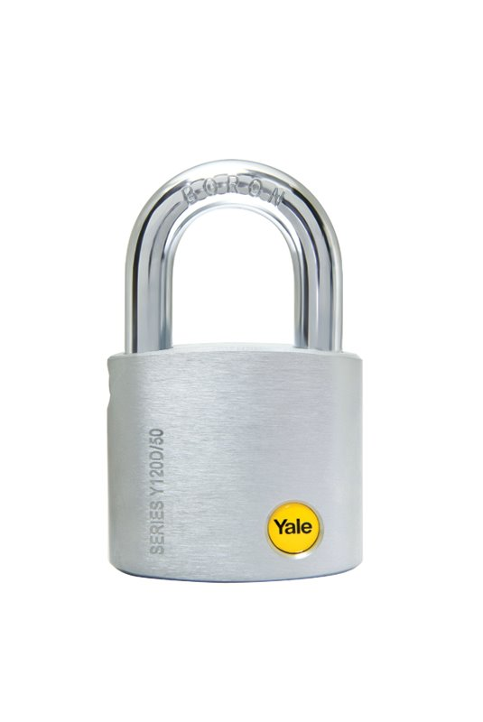 Y120D/50 - Yale Silver Series Dimple-Keyed padlock 50mm