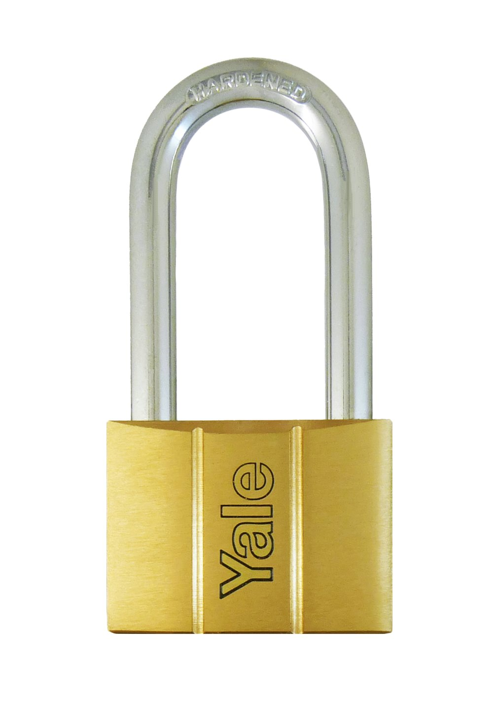 Y140/60LS - Yale 140 Series Long Shackle Brass Padlock 60mm