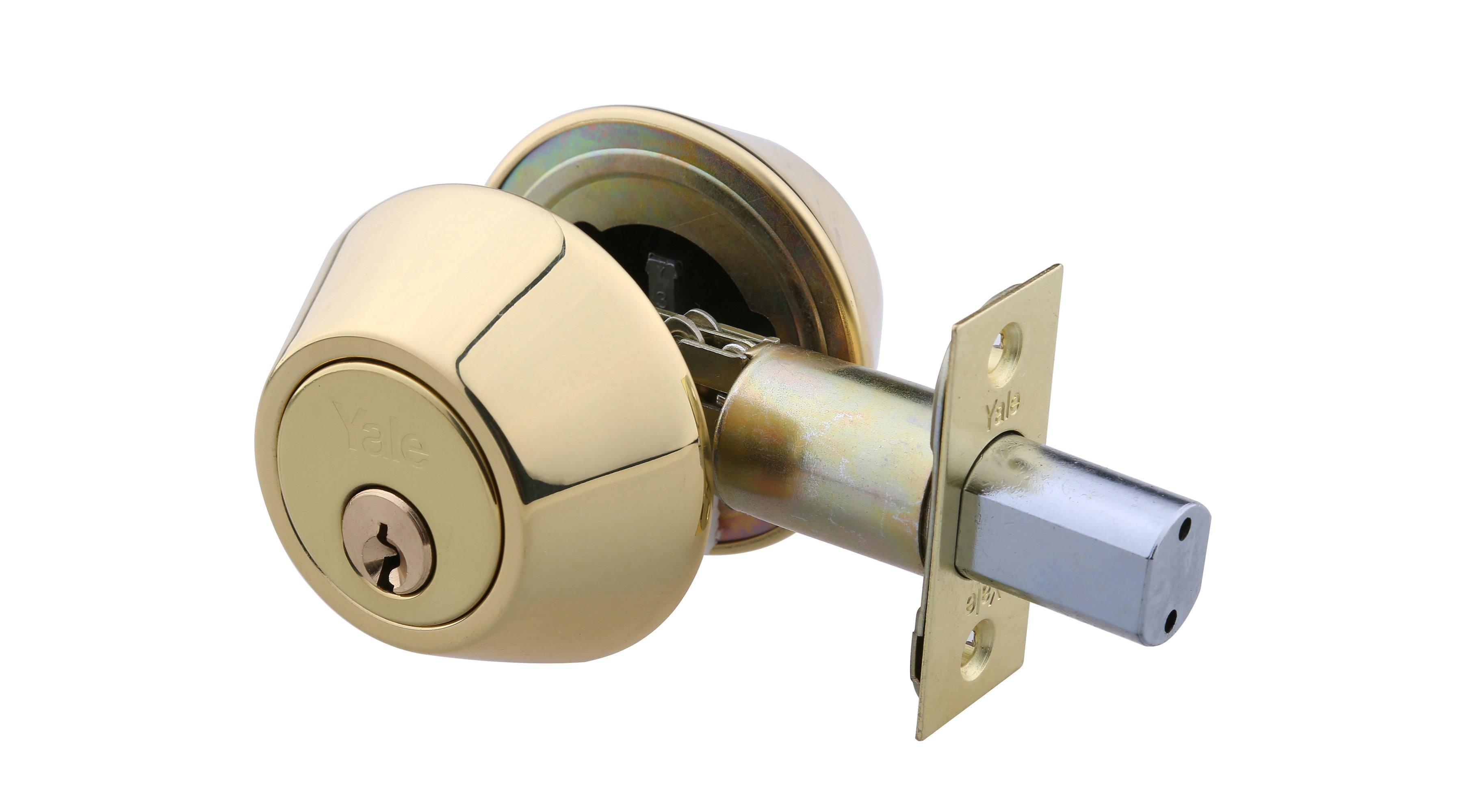 Double Cylinder Deadbolt - Polished Brass