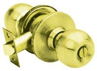 KN-VCA5222 US3 ลูกบิดหัวกลม ห้องน้ำ 5222 ทองเหลืองแท้ขัดเงา