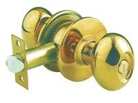 KN-VOV5222 US3 ลูกบิดหัวรูปไข่ ห้องน้ำ 5222 ทองเหลืองแท้ขัดเงา
