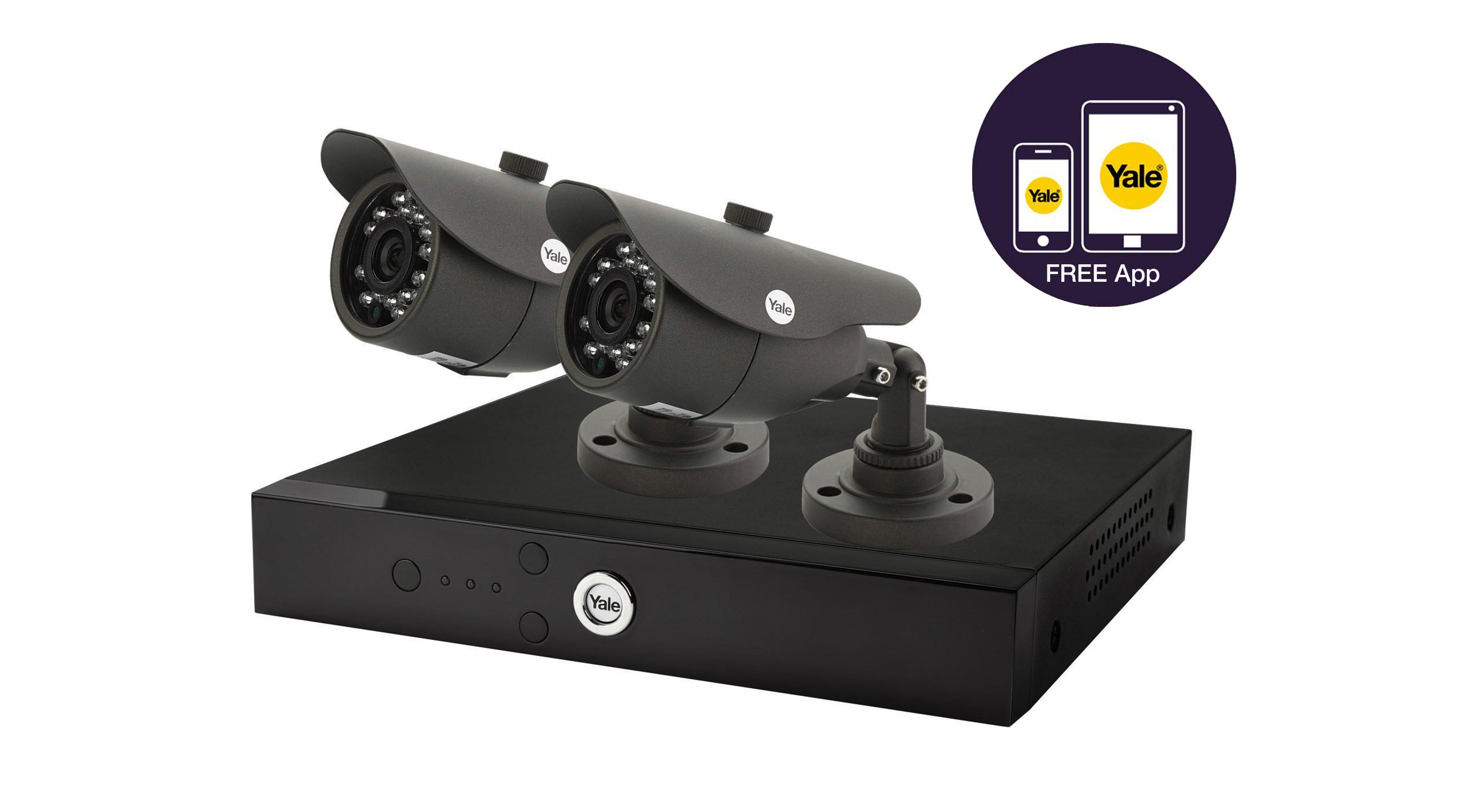 Easy Fit HD 720P 2Cam 1TB CCTV System