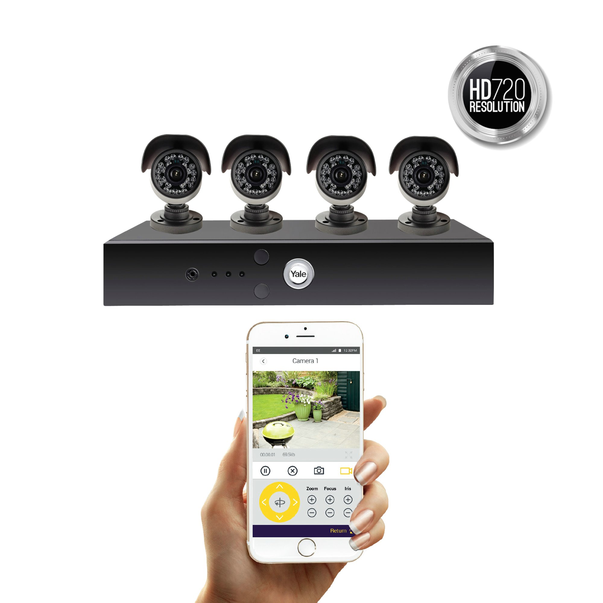 Smart HD720 CCTV System - 4 Camera