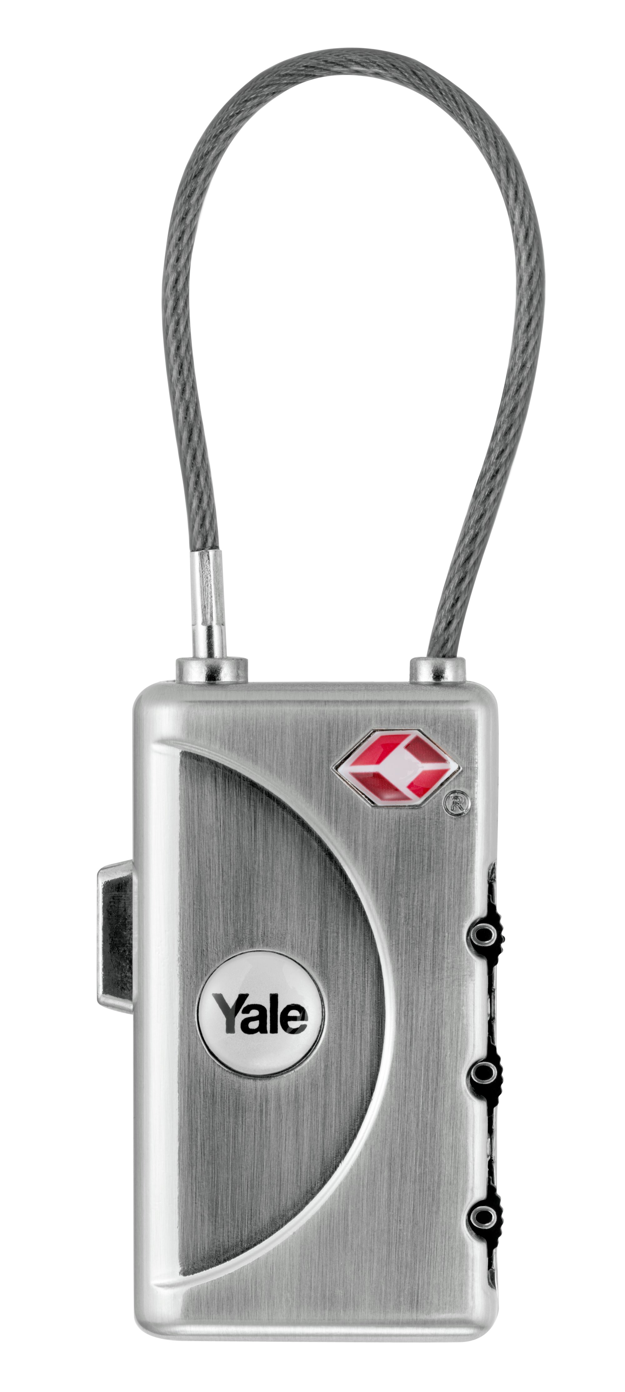 TSA Resehänglås med kod, mjuk bygel och ID bricka - YTL1/30/350/1